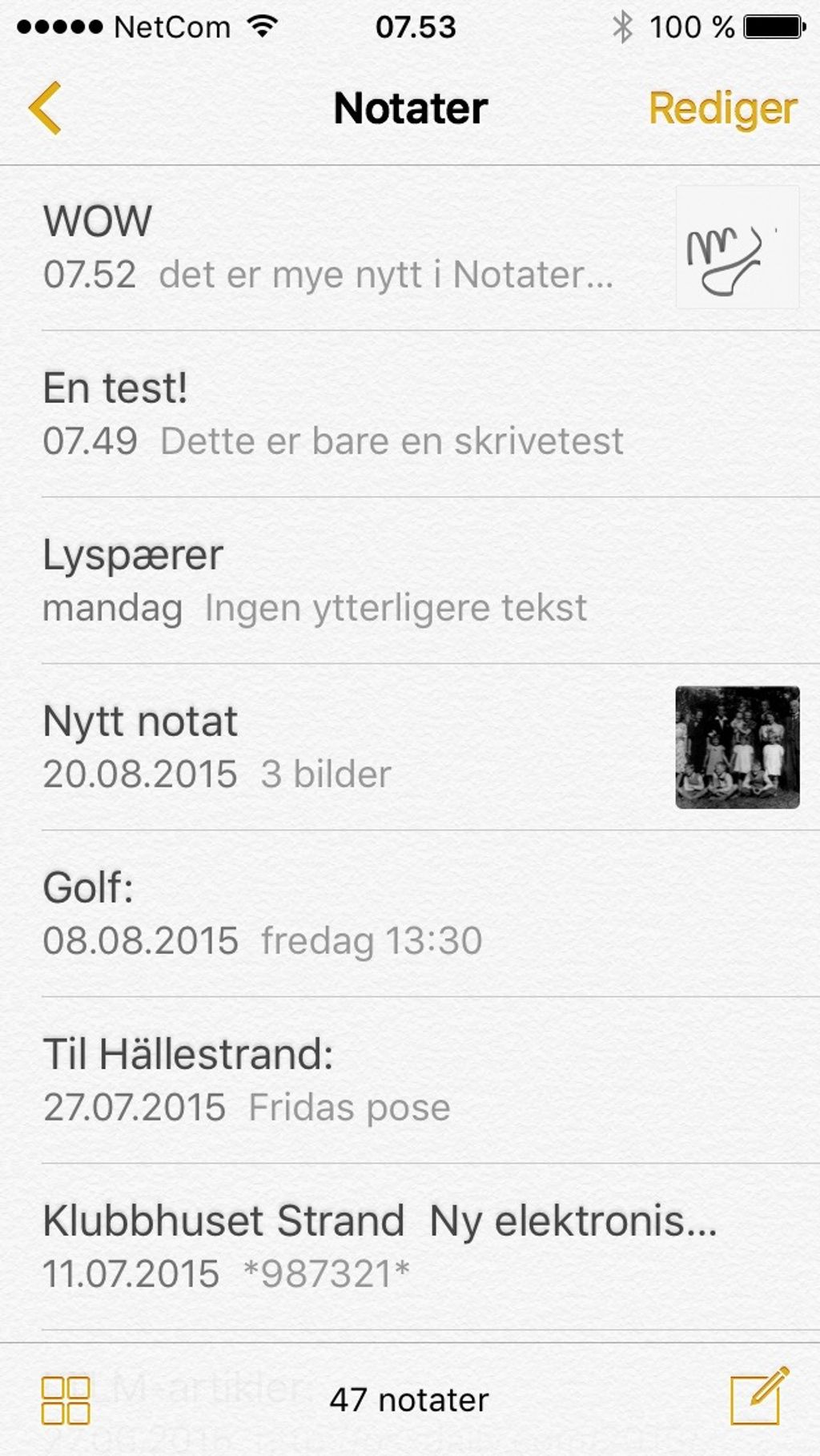 Nye Notater i IOS 9