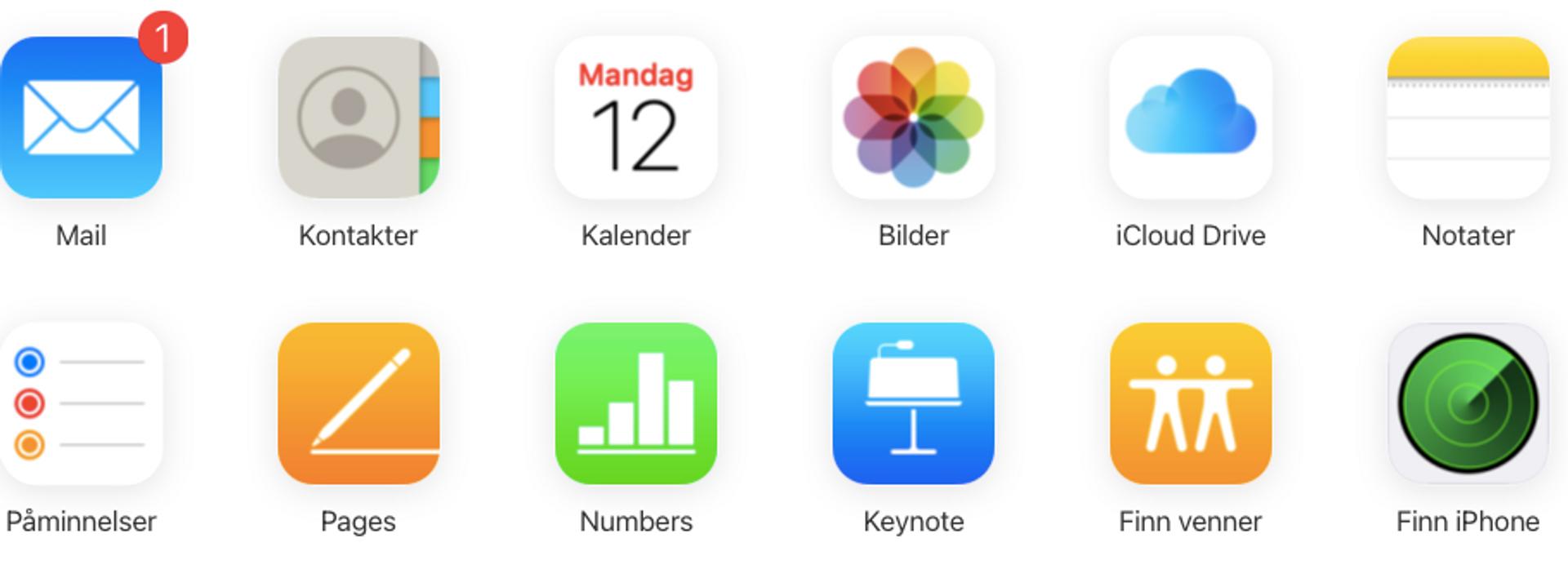Litt om iCloud
