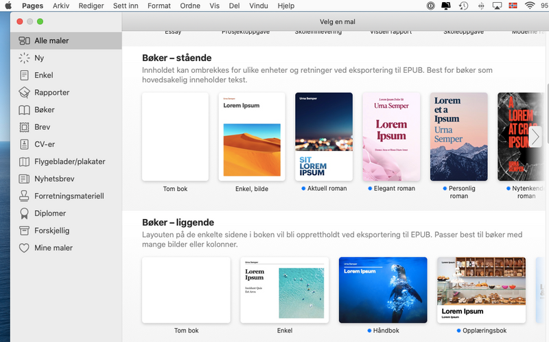 Pages - Apple's svar på Word